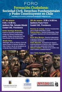 Foro Formación Ciudadana: Sociedad Civil, Derechos Fundamentales y Poder Constituyente en Chile