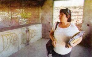 Su presidenta, Filomena Díaz, observa desilusionada el estado en que se encuentra el lugar.