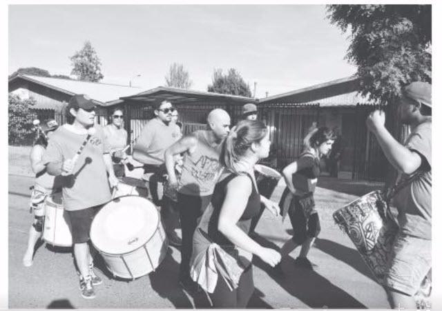 Música y baile se tomaron la tarde en las llamadas Villas Unidas.